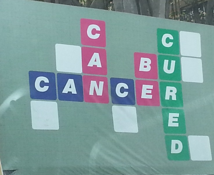 Cancer can be cured. Photo. R. Prasad