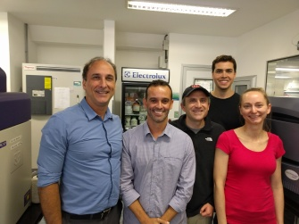 From left Rodrigo Brindeiro, Renato Santana Aguiar, Dave O'Connor, Gabriel Goncalves, and Dawn Dudley. O'Connor and Dudley are from the University of Wisconsin-Madison and others are from the Federal University