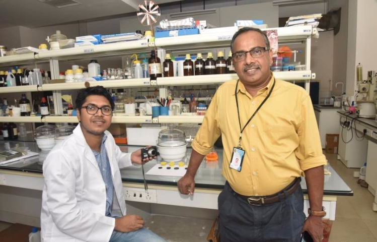 Dr. A. Ajayaghosh (right) and Samrat Ghosh-Optimized