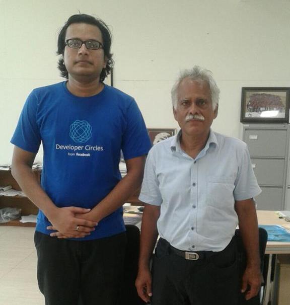 Sabyasachi Mukhopadhyay (left)