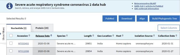 Genome sequences - GenBank